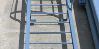 Steel Ladder with Safety Cage